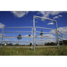 ПВХ с покрытием сварные панели ограждения / временного ограждения панели / кованого железа пикет забор панели