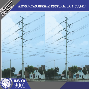 100FT Steel Power Pole For Double Circuit