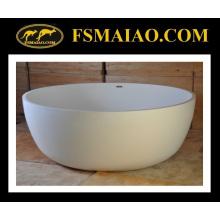 Große freistehende runde Badewannen-feste Oberfläche des Raum-weiße (BS-8615)