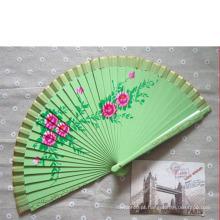 China atacado manual do ventilador de mão dobrável do laço
