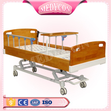 Multi-functional wooden home care nursing bed for the disabled and elderly