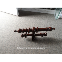 double wooden curtain pole for curtain