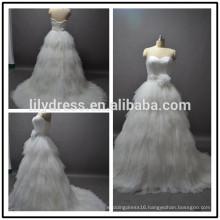 China Sweetheart Neckline Layered Custom Made Formal Bridal Dress Vestidos De Novia BW100 real sample wedding dress