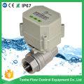 Válvula de bola motorizada de control automático de drenaje con temporizador