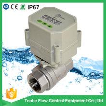 Válvula de agua de control de acero inoxidable con válvula de bola de drenaje de temporizador