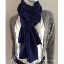 Ladies Fashion Navy Blue Cashmere Knitted Scarf (YKY4387-3)