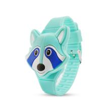 Custom silicone cute 3D animal sports kids led digital watch
