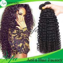Класс 7А weave волос девственницы монгольских kinky вьющиеся волосы