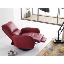 Sofá reclinável elétrico do sofá do couro genuíno do couro (737)