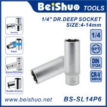 """1/4 """"Drive Deep Socket avec norme métrique / SAE pour pièces automobiles"""