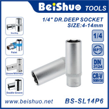 "1/4""Drive Deep Socket with Metric/SAE Standard for Auto Parts"