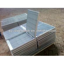 Rideaux en acier galvanisé, grille en acier galvanisé, grille à barres, grille de tranchée, grille en acier