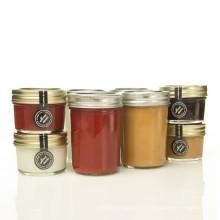 Wholesales 100ml / 250ml Petit verre de stockage de nourriture en verre Jar Jar Jam avec couvercle métallique