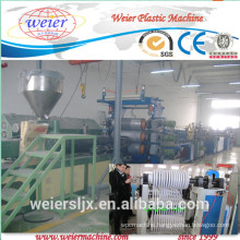 pvc edge banding making machine with hot stamping online, 400mm pvc furniture edge banding sheet production line