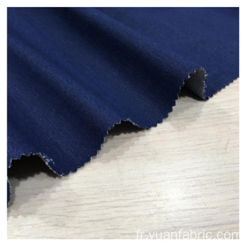 Tissu de textile extensible de polyester cationique gris de denim
