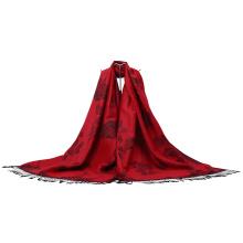 Fleur rouge Pashmina Echarpe d'hiver Châle de mode pour Dame