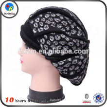 Acrylic warm knitted winter hat for women