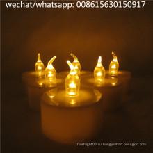 Беспламенные светодиодные чайные свечи Свечи аккумуляторные свечи