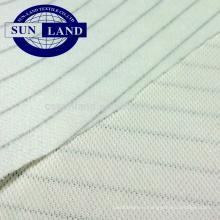 Tissu 100% polyester antistatique à double piqué pour vêtements de travail