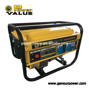 Power Value Taizhou 2000w 2kw alambre de cobre Imitative GX160 Generador de gasolina