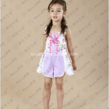 boutique summer purple custom romper for toddler