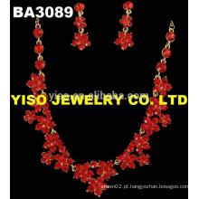 Conjunto de jóias de casamento fashional