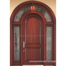 Beautiful Arch Entry Wood Door