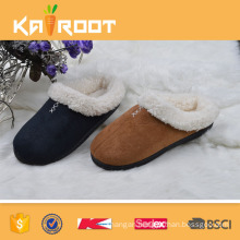 comfortable thick sole mens slipper leather slipper