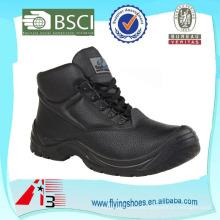 OEM de la fábrica El cuero del trabajo de la alta calidad trabaja con los cargadores de acero del dedo del pie