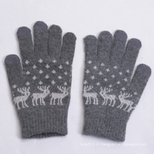 2015 Hot Sell Jacquard Wool Touch Screen Gloves