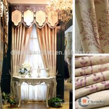 Vente en gros de tissus rideaux jacquard chenile pour fenêtre villa