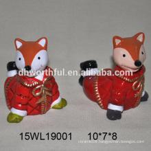 2016 most popular craft ceramic fox figurine in high quality
