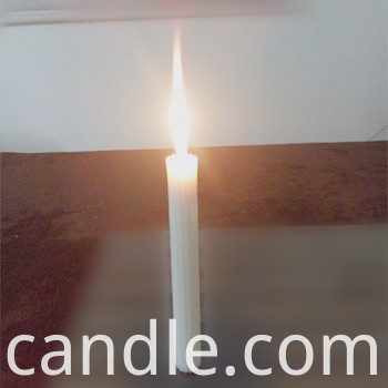 fluted candle