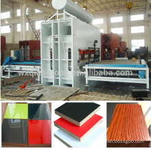 hot sell short cycle hot press veneer laminate/4*8 feet Hydraulic Melamine Short Cycle Hot Press