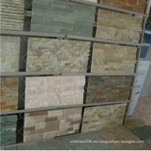 Revestimiento de pared Interior Pizarra barata piedra cultivada