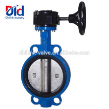 Gearbox Electric Cement Demco Ebro Wafer Type Ductile Iron Butterfly Valve With Actuator