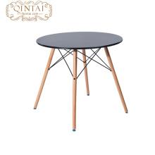 Sistemas de madera de la mesa de comedor del metal del estilo barato de la tabla en comedor