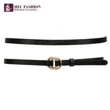 HEC China Products Prices Classic Black Slim Belt For Women