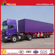 3 Achsen 60 Tonnen Box Trailer in Semi Trailer