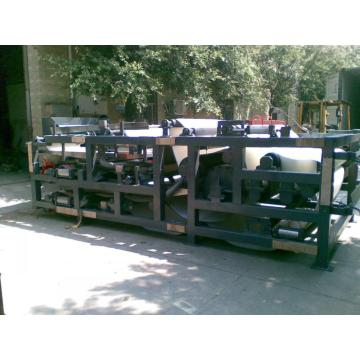 Belt filter press for sludge dewatering machine