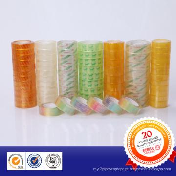 Fita adesiva transparente de uso geral de boa qualidade para papelaria para escritório