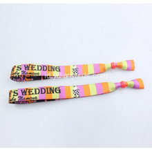 Woven Custom Fabric Wristband Dengan Clip