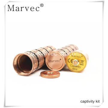 Marvec Captivity koppar material vape cigarett kit