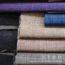 Tissu d'ameublement Textile polyester lin Slub Style maison