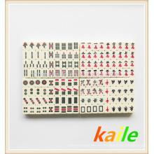 Marfil mahjong de viaje en caja de PVC