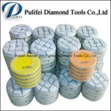 Outils de plancher en pierre polissant la garniture de meulage de résine de diamant de plancher