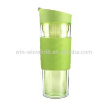 Novos produtos de garrafa de água de plástico bebida esportes infusor de frutas