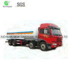 Semirremolque de tanque de almacenamiento para transporte criogénico de gran volumen