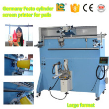 Large printing area semi-automatic cylinder screen printer