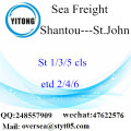 Shantou Port LCL Consolidation To St.John